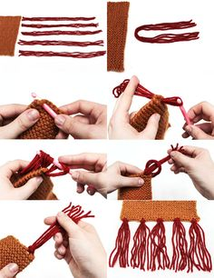 Como hacer Flecos para ponchos, bufandas, etc. Fabulous Fringe.