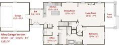 Craftsman Style House Plan - 3 Beds 2.5 Baths 1860 Sq/Ft Plan #461-10 Floor Plan - Other Floor Plan - Houseplans.com
