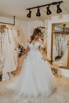 Available Colors: Ivory/ Beige/Nude (pictured) Ivory/Ivory/Nude Bridal Collection, Fashion Forward, White Dress, Bloom, Ivory, Nude, Beige, Sea, Wedding Dresses