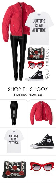 """Untitled #163"" by justmichaela ❤ liked on Polyvore featuring Zeynep Arçay, Tommy Hilfiger, Moschino, Converse, Miu Miu and Dolce&Gabbana"