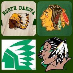 UND Fighting Sioux logos