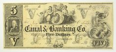 1800s Five Dollar 5 Bill Canal & Banking Co New Orleans Remainder Obsolete Note | eBay