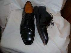 Rockport black leather oxford mens shoes sz 11 1/2 M comfort lace up NICE! #Rockport #Oxfords