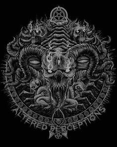 Death metal artwork by blackdotx on DeviantArt Death metal artwork by blackdotx on DeviantArt<br> Dark Artwork, Metal Artwork, Fantasy Concept Art, Dark Fantasy Art, Arte Horror, Horror Art, Death Metal, Satanic Art, Evil Art