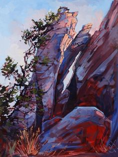 Joshua Tree Park Oil Painting by Erin Hanson