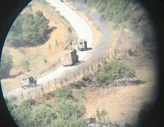 Eye on the enemy: Column of 20 Israeli vehicles incl. min. 50 soldiers to train probably 🇱🇧occupied Sheba Farms...