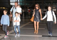 The Beckhams were pictured leaving LAX en masse yesterday, looking every inch the world's most fashionable family