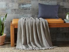The perfect addition to the bedroom or living area, the Cambridge throw offers a touch of colour and texture to suit any style. Soft and lightweight, this cosy throw has been finished with a stylish tassel fringe detail. Bed Throws, Bed & Bath, Cambridge, Living Area, Home Furniture, New Homes, Blanket, Bedroom, House