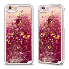 Coque Hot Rose Transparent et Liquide pour Apple iPhone 6