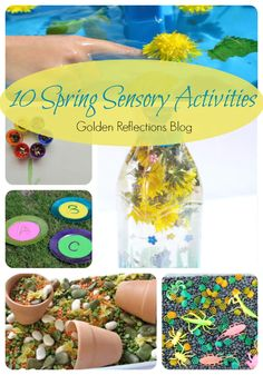 Spring is in the air with these 10 spring sensory activities for toddlers and preschoolers. www.GoldenReflectionsBlog.com