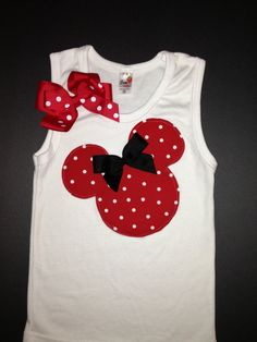 Red and White Polka Dot Minnie Mouse Tank Top