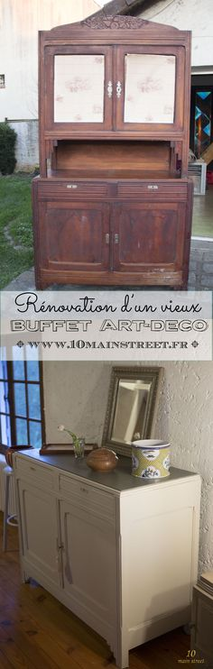 Rénovation d'un vieux buffet art-déco | Vintage art-deco buffet makeover | www.10mainstreet.fr