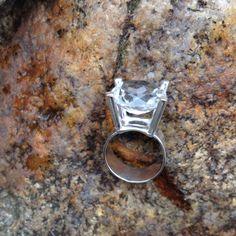 Silver med bergkristall