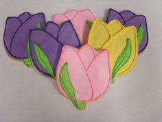 Tulip cookies for Princess  Tiana