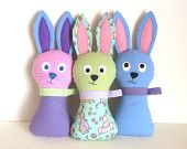 I'll be making lots of these for the Children's Hospital!  Stuffed Bunny Pattern - Hoppy Bunny PDF Sewing Pattern - Soft Toy for Babies Toddlers Plush Easter Bunny for Springtime Plays Peek-a-Boo too