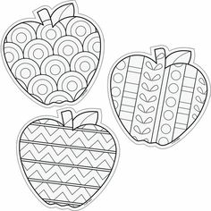 Color Me 6 Designer Cut Outs Apples: Colouring Pages, Adult Coloring Pages, Coloring Sheets, Coloring Books, Apple Coloring, Autumn Crafts, Autumn Art, Arte Elemental, Kids Crafts