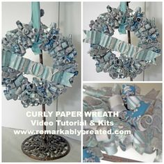 cUrly paper wreaths kits & video tutorial