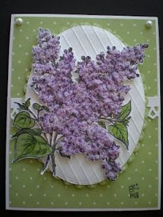Selma's Stamping Corner: Flower Soft  added to lilac stamp from PSX