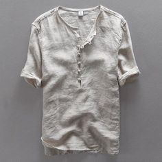 Cheap camisa masculina, Buy Quality simple man shirt directly from China linen shirts men Suppliers: Italy brand simple fashion men shirt casual linen shirt men solid flax breathable summer shirt mens clothing Camisa masculina Short Kurta For Men, Casual Shirts For Men, Men Casual, Casual Outfits, Summer Outfits, Summer Shirts, Shirt Style, Shirt Designs, Shirt Men