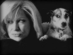 Bette Midler and her dog Queen Puddles