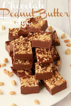 Chocolate Peanut Butter Fudge. Vegan and Gluten-Free. #vegan #lovingitvegan #glutenfree #dairyfree #dessert