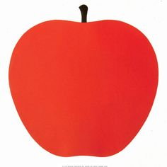 Enzo Mari - love this apple print