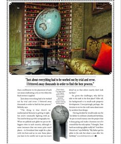 Bellerby & Co Globemakers in Robb Report Magazine