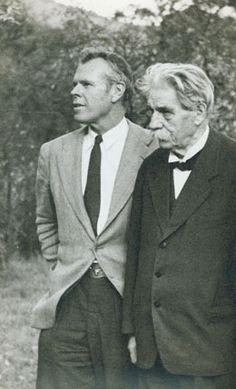 Jerome Hill and Albert Schweitzer.