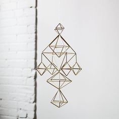 Items similar to DEAE - Modern Hanging Mobile - Air Plant Hanger - Geometric Himmeli Sculpture on Etsy Geometric Furniture, Geometric Decor, Furniture Design, Woodworking Guide, Custom Woodworking, Woodworking Projects Plans, Geometric Sculpture, Indoor Outdoor Furniture, Hanging Mobile