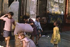 "Helen Levitt.  New York, 1972  (kids with laundry)  16 x 20"" c-print"