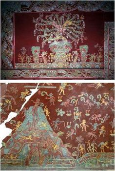 front Mural Tepantitla, Teotihuacan, Mexico tlalocan paradise