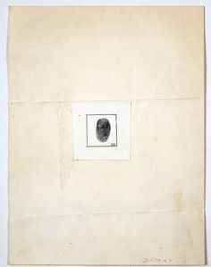 """Robert Rauschenberg's """"Self-Portrait [for The New Yorker profile],"""" 1964."""