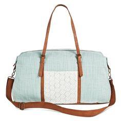 Women's Crochet Stripe Weekender Handbag Blue - Mossimo Supply Co