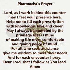 Pharmacist's Prayer. @jesica @amy