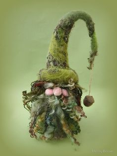 Gnoel Gnome - Handmade needle felted creation from Teddy Bear Orphans by Penny Bonser