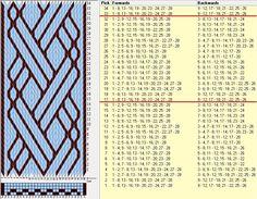 28 tarjetas, 2 colores, repite cada 16 movimientos // sed_977 diseñado en GTT༺❁