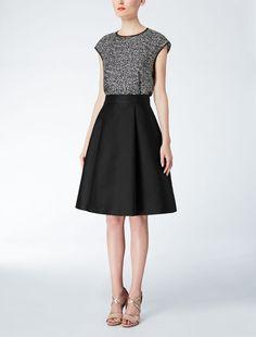 Max Mara MIRANDA black: Duchesse fabric skirt.