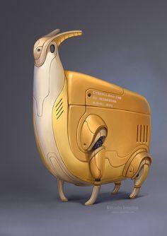 Robot 3: cyberllama Anny by Sedeptra  LESSON: Transform a living creature into a futuristic robotic replica.