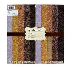 Recollections Signature Paper Pad, Glitter Metallics Reg. $19.99