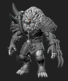 http://www.zbrushcentral.com/showthread.php?193350-Rengar-Riot-Polycount-Art-contest-entry