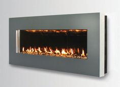 Contemporary Wall Mount Fireplace - Slim by Spark Modern Fires