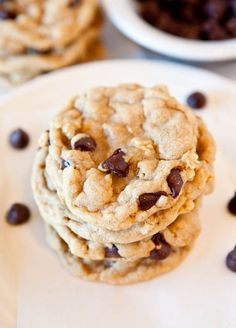 Averie Cooks » Chocolate Chip Peanut Butter Oatmeal Skillet Cookie