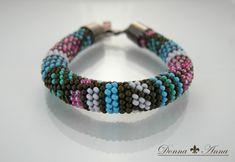 bransoletka /dostępna/  (ukośnik, wąż, bead, crochet, szydełko, toho, preciosa, beadcrochet, wąż szydełkowo-koralikowy)