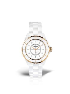 CHANEL - J12 Pink Gold and Diamonds - High precision quartz movement - Chanel Watches.