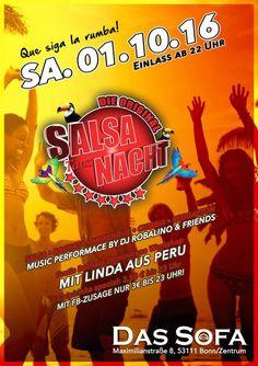 Salsa - Merengue - Latin - Soulhouse - Bachata - Samba - Cumbia - Reggaeton usw...