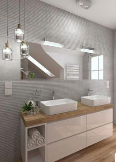 Fantastic Pic Bathroom Cabinets mirror Suggestions Bathroom cabinets are generally widely thought to be to own almost all affect in a very toilet remod Modern Bathroom Design, Bathroom Interior Design, Interior Decorating, Bad Inspiration, Bathroom Inspiration, Mirror Cabinets, Bathroom Cabinets, Bathroom Furniture, Ideas Baños