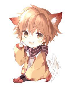 I can't be the only person who's wanted cat ears before, right? Anime Neko, Kawaii Anime, Cute Anime Chibi, Kawaii Chibi, Cute Anime Boy, Anime Guys, Anime Art, Neko Boy, Anime Fox Boy