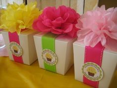 Easy Party Favor - dress up a take out box