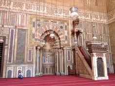Inside sultan HASSAN masjid