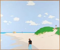 James (1930-2010) painted simple and colorful vignettes with a simple and often cheeky approach.